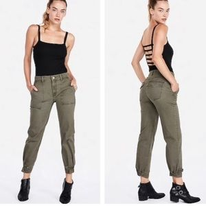 Express cropped straight high rise jean